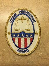 CRIME PREVENTION AWARD BSA PATCH