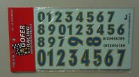 STOCK CAR NUMBERS #1 1:24 1:25 GOFER RACING DECALS CAR MODEL ACCESSORY 11013