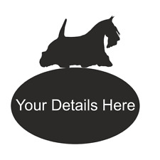 Scottie Dog Metal Large Oval House Plaque