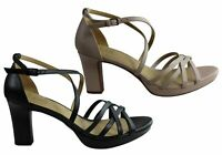 NEW NATURALIZER CECILE WOMENS LEATHER ELEGANT STRAPPY DRESS HEELS SANDALS