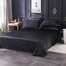 Silk Bed Sheets Queen King Set Satin Deep Fitted Luxury Pocket Bedding  Fade New
