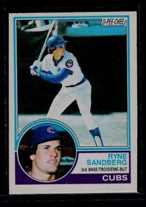 1983 O-Pee-Chee #83 RYNE SANDBERG RC Rookie NM Chicago Cubs Canadian Parallel