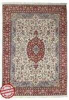 Oriental Hand Knotted Ivory Area Rug 'Gadvand' Indian Handmade Wool Carpets 9x12