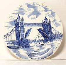 Plaque De Collection Assiette Murale Bleu Tower Bridge Londres Angleterre