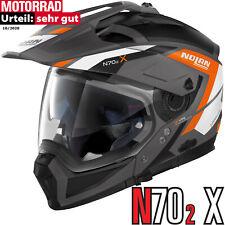 NOLAN Helm N70-2 X GRANDES ALPES N-COM Flat Lava Grey 24 Visier Pinlock Kinnteil