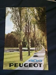 1969 Peugeot 404 Estate Car Station Wagon Color Sales Brochure Catalog Prospekt