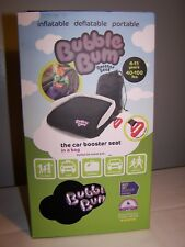 Bubble Bum Booster Seat, 4-11 years, 40-100 lbs, Black, portable, In a bag