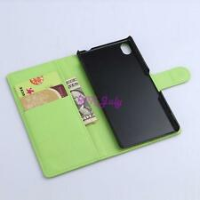 Full Grain Wallet PU Leather Phone Flip Case Cover For Sony Xperia m4 Aqua E2303