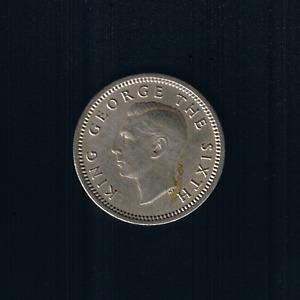 New Zealand - 1952, Threepence - King GEORGE VI