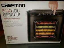 Chefman RJ43-SQ-6T 6 Tray Digital Touch Display BPA Free Dehydrator, Black NEW!