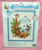 New Dimensions Stitchables Protect the Earth Counted Cross Stitch Kit w/Frame