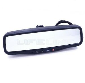 10 11 GMC Terrain Chevy Equinox Rear View Rearview Mirror Auto Dimm Camera OEM