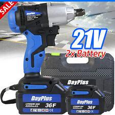 Cordless Electric Impact Wrench Rattle Nut Gun 12 Driver 420nm Li Ion Battery