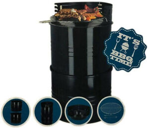BBQ Time Drum Grillfass Holzkohlegrill 3-in-1 Grill