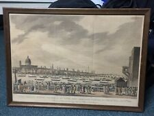 Large Print Lord Nelson Funeral Procession on Thames 1806. Turner Aquatint