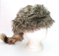 Kids  COON SKIN CAP Real Tail hat raccoon Wilcor Wilderness Cap trap traps
