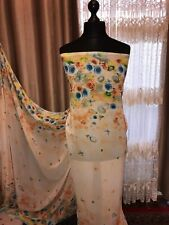 New Designer Multicolour Floral Print Chiffon Fabric-  Dress Material Uk Seller