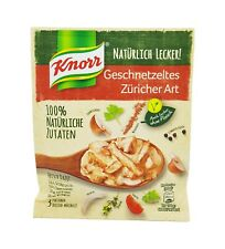 """10x Knorr Fix 100% natural 🍴 Geschnetzeltes """"Züricher Art"""" """"Zürich style"""" stew"""
