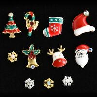 Charming Christmas 3D Nail Art Stickers Xmas DIY Manicure Crafts Nail Decoration