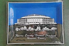 Astrodome Harris County Sport History Plate Stadium Vintage Glass Original Dome