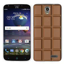 for ZTE maven 2 Clear (Chocolate Bar) TPU gel skin phone case cover