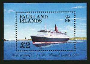 Falkland Islands: 1993 Visit of the Queen Elizabeth II Souvenir Sheet (572) MNH