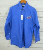 NWT Van Heusen Wrinkle Free Oxford Dress Shirt Blue 15.5-16 Symdon Chevrolet A2