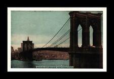 DR JIM STAMPS US BRROKLYN BRIDGE NEW YORK CITY VIEW POSTCARD