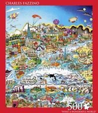 ANDREWS + BLAINE PUZZLE WHAT A WONDERFUL WORLD CHARLES FAZZINO 500 PCS #2884
