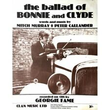 Ballad of Bonnie and Clyde by Georgie Fame Rare 1967 Vintage Sheet Music Poster