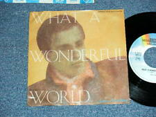 "LOUIS ARMSTRONG  Japan One Sided PROMO ONLY 7""45 WHAT A WONDERFUL WORLD"