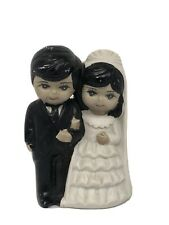 1960s Cerqmic Wedding Cake Topper Bride And Groom