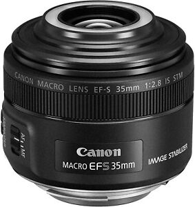 [NEAR MINT] Canon EF-S 35mm F/2.8 STM IS Lens (Black) from JAPAN (N337)