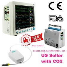 US Seller, Capnograph CO2 Patient Monitor ETCO2 Vital Signs 7 Parameters,CE,FDA