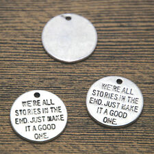 15pcs Doctor Who Charms silver tone We're All Stories In The End pendant 20mm