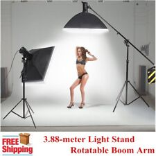 3.88-meter Heavy Duty Photo Studio 2 in1 Rotatable Boom Arm Light Stand Kit UK