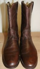 Boots roper bottes western femme JUSTIN cuir marron pointure 40 made in Mexico