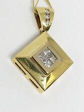 14K Yellow Gold Diamond Pendant, Dia 0.38CT