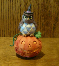 "Jim Shore Heartwood Creek #6006704 Jack-O-Lantern with Owl, Nib, 4.2"" Halloween"