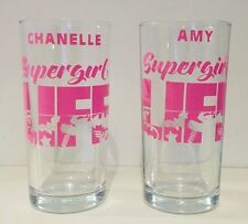 Supergirl Batgirl Superhero Girls Glass Personalised One Supplied Any Colour