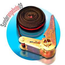 Spanngurt schwarz mit Ratsche einteilig Länge 5m Breite 25mm Zugkraft ca. 250 kg