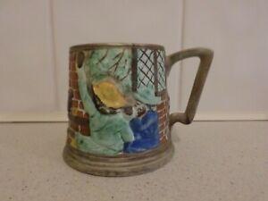 Vintage E Radford pottery Village Tavern / Pub Tankard / Mug, handpainted