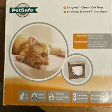 Petsafe Staywell Manual 4 Way Locking Magnetic Cat Flap In Wood Brown Colour