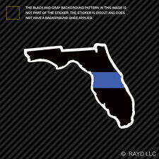 Florida State Shaped The Thin Blue Line Sticker Self Adhesive police FL