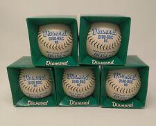"Lot of 5 Vintage Diamond 12"" Softballs Blue D100-Bsc Poly Graphite Core New"
