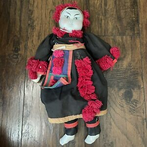 Antique Vintage Old Porcelain Collectible Chinese Qing Period Doll Toy 1.35 Lb
