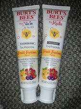 Burts Bees For Kids Fluoride Toothpaste Fruit Fusion Flavor X2