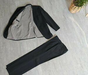 HUGO BOSS Designer Anzug 100% orig.,  schwarz gestreift, Gr: 52 (= L) sehr gut