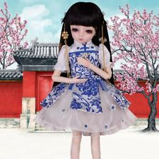 45cm BJD Doll Chinese Girl Dolls Eyes Wig Dress Shoes Makeup Toy Xmas B-Day Gift