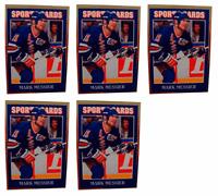 (5) 1992 Sports Cards #28 Mark Messier Hockey Card Lot New York Rangers